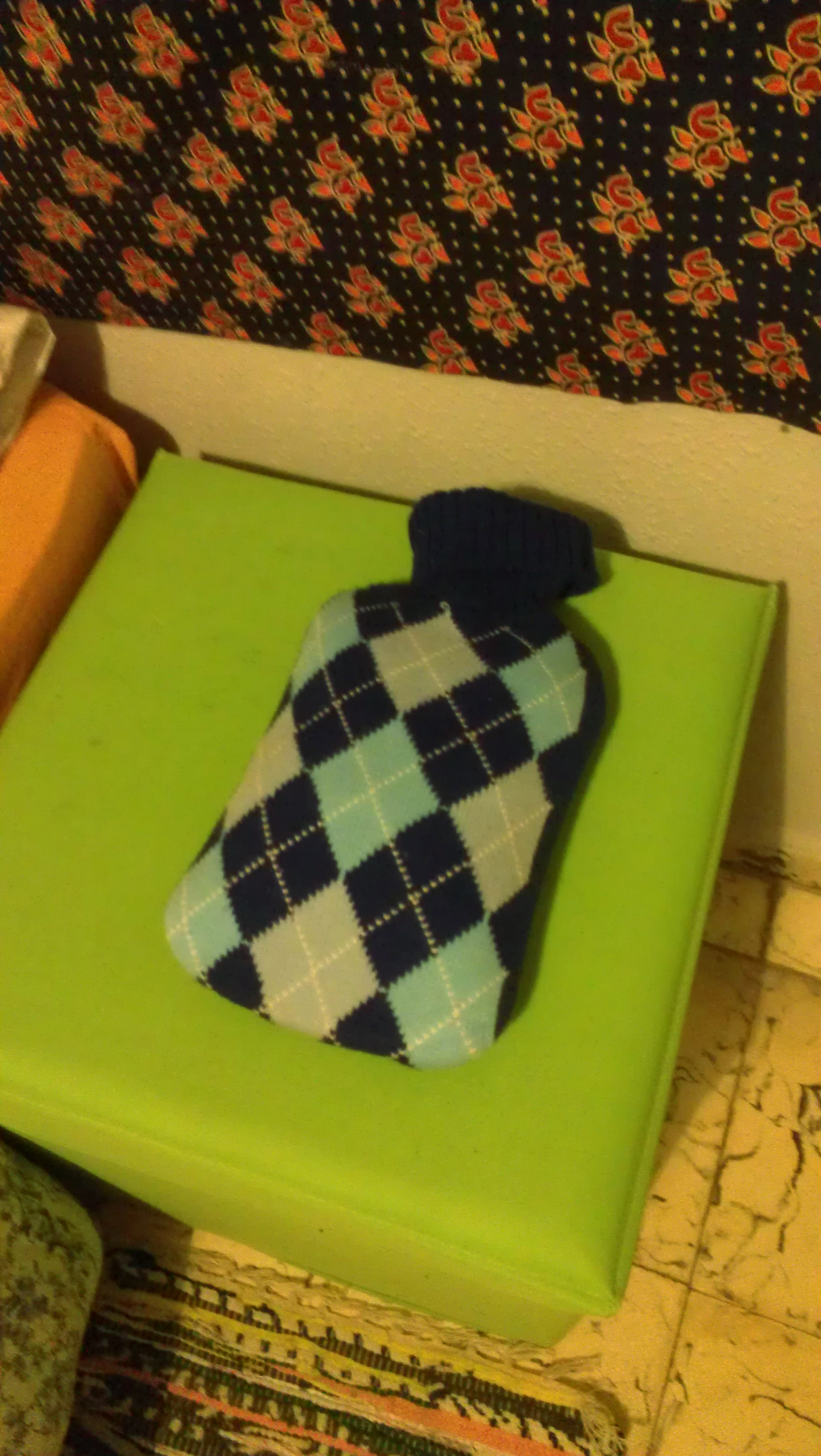 so happy to see this in my room in granada. the hot water bottle is an essential survival tool for living in spain in winter.