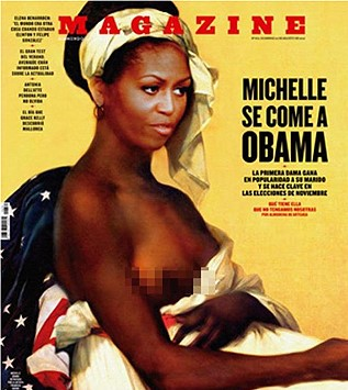 michelle obama - spain magazine cover